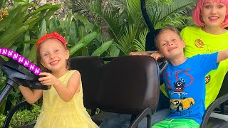 Колеса у автобуса крутятся | детская песенка от Алекса и Насти