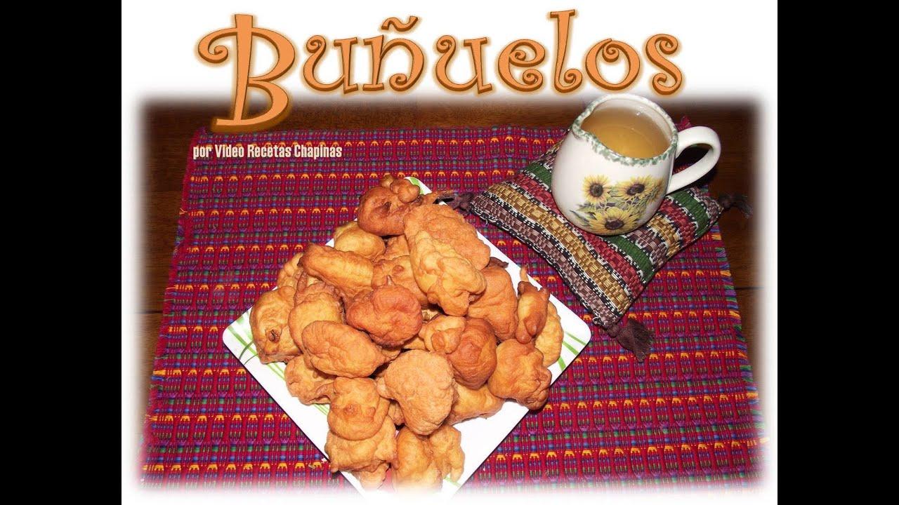 Receta de Buuelos Guatemala  YouTube