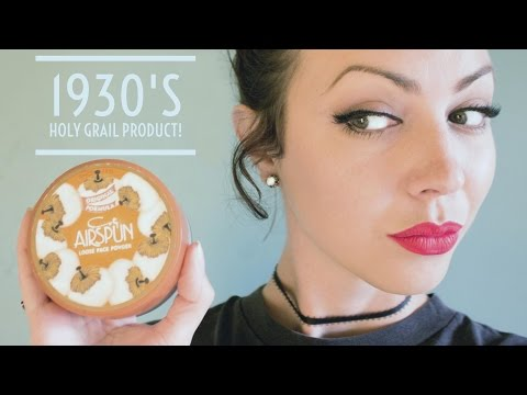 Testing Coty Airspun Powder From 1934 | VINTAGE MAKEUP REVIEW