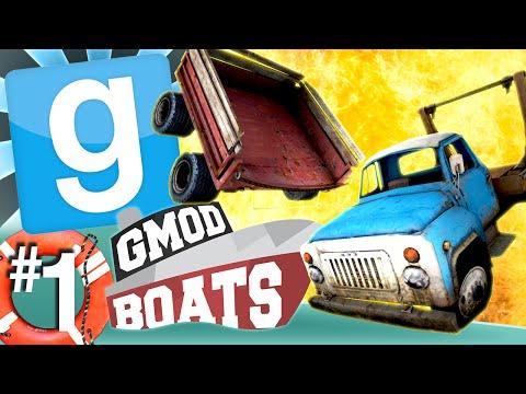 GMod Boats #1 - Cart Vs. Pickup (Garrys Mod)