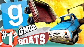 GMod Boats #1 - Cart Vs. Pickup (Garry's Mod)