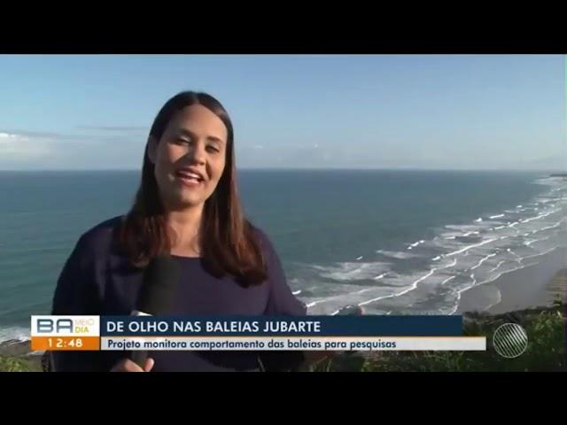 TV Santa Cruz divulga matéria sobre o Projeto Baleias na Serra