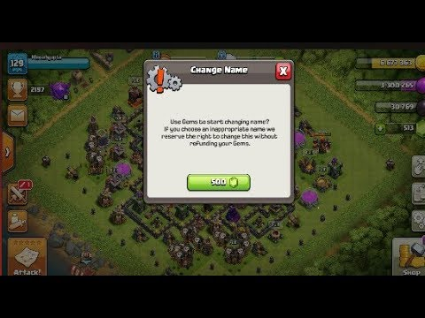 First Time Use Name Change Opsition | How To Change Name In Clash Of Clans
