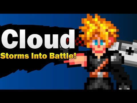Super Smash Bros. - Cloud Storms Into Battle! - Pixels Trailer Version [ Extended ]