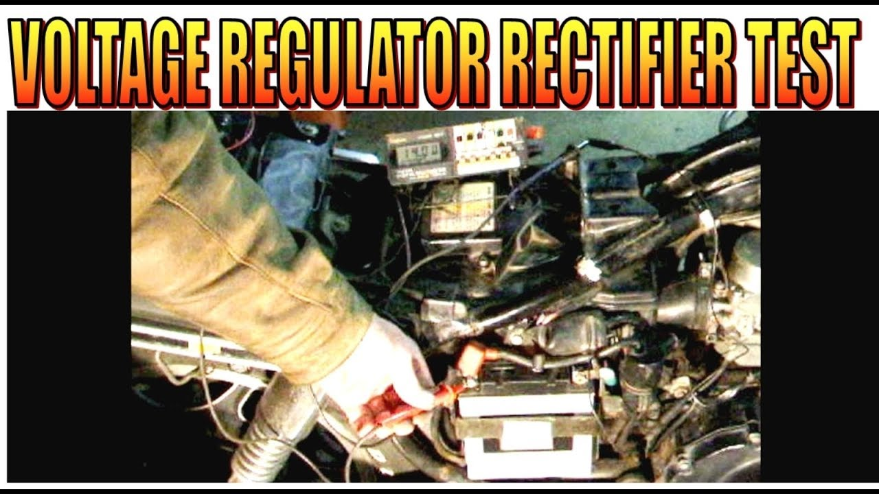 Motorcycle Voltage Regulator Charging And Rectifier Test Youtube 2012 Suzuki Dr650 Wiring Diagram Voltageregulator