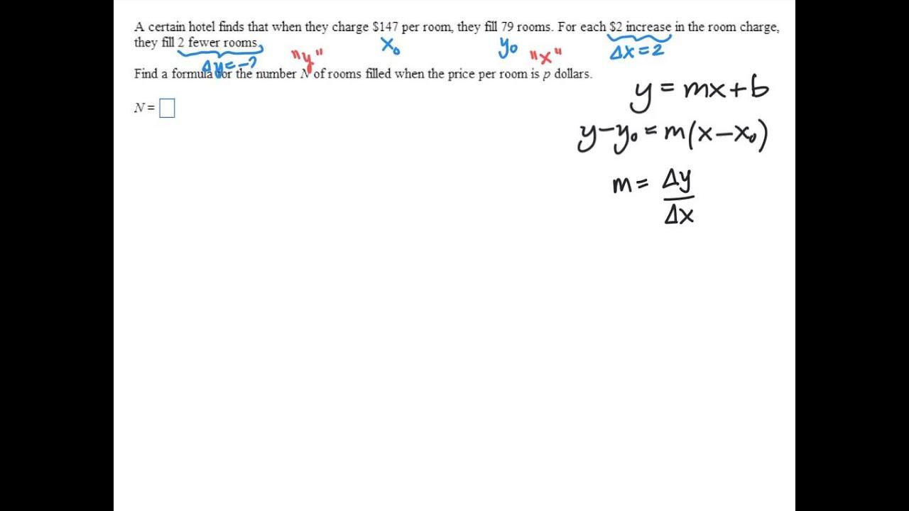Linear model word problem youtube linear model word problem falaconquin