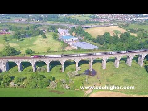 Enterprise crossing the Craigmore Viaduct