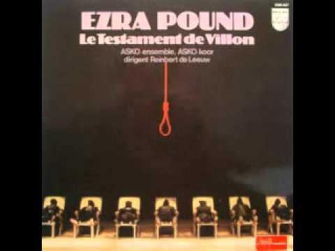 Ezra Pound - Le Testament De Villon - Opera
