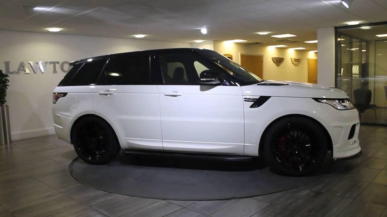 Range Rover Evoque Blacked Out >> Range Rover Sport Urban White with Black Leather - Lawton Brook - YouTube