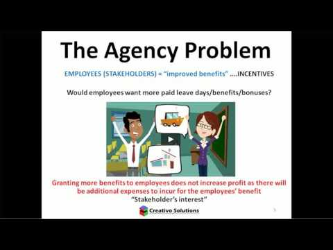 agency relationship and problem in finance
