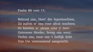Psalm 80 vers 1, 9 en 11 - Neem Isrels Herder, neem ter oren