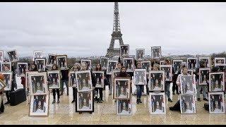 100 portraits décrochés de Macron, 100 jours avant les municipales (8 décembre 2019, Paris) [4K]