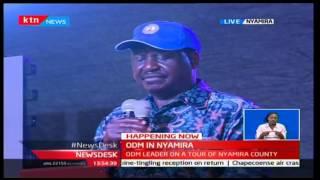 RAILA IN NYAMIRA COUNTY - Watch Raila Odinga address Nyamira County youth