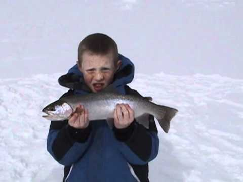 Hebgen lake josh and carson ice fishing video youtube for Hebgen lake fishing report