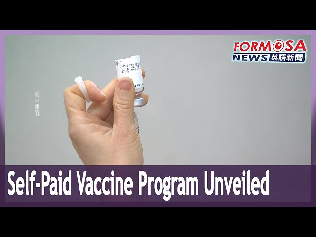 Taiwan to offer self-paid COVID vaccines from next Wednesday