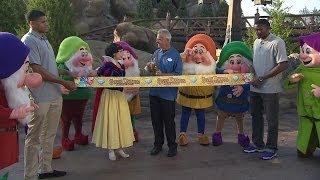 Seven Dwarfs Mine Train ribbon cutting at Disney