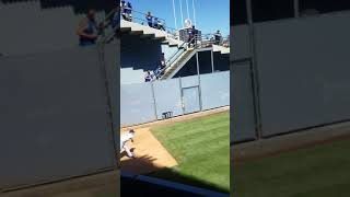 Dodgers pitcher Joe Kelly pitching in the bullpen