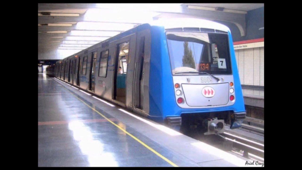 Segunda actualizaci n trenes del metro de santiago for Mural metro u de chile