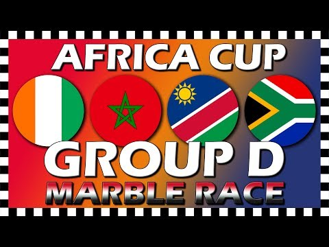 Africa Cup of Nations 2019 - Group D - Marble Race - Algodoo