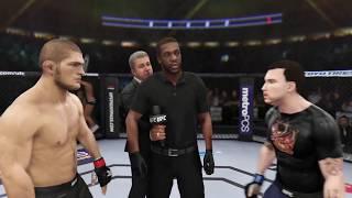 Khabib Nurmagamedov vs. Eminem (EA sports UFC 3) - CPU vs. CPU
