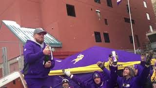 Vikings tailgating getting out of control!