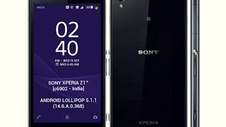 Android Lollipop 5.1.1 for Xperia Z1™ (c6902 - India) [14.6.A.0.368]