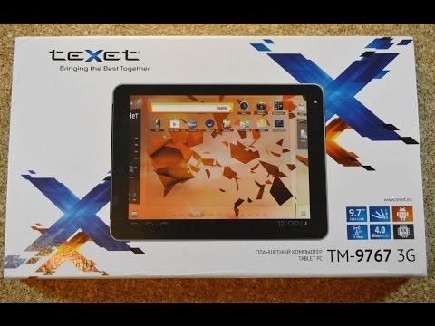 Обзор TeXet X-pad STYLE 10 3G (TM-9767) с Android 4.4 KitKat