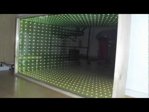 infinity mirror youtube. Black Bedroom Furniture Sets. Home Design Ideas