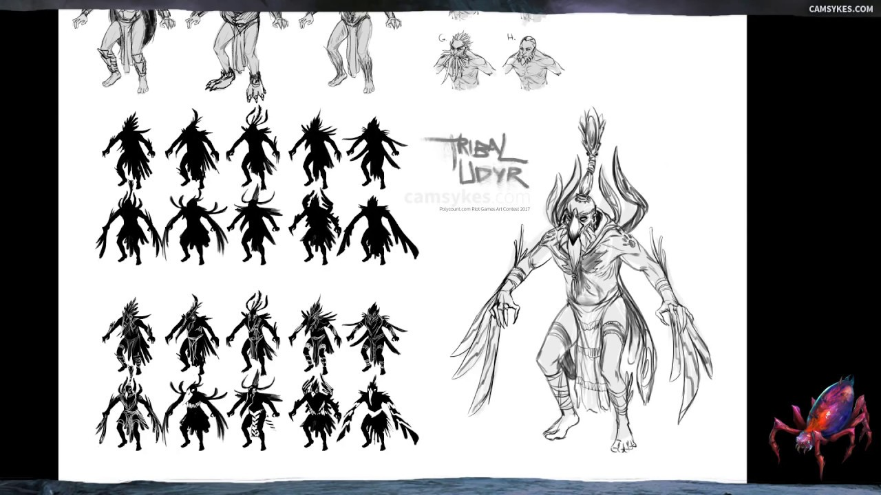 Character Design League Of Legends : Character design thumbnailing and sketching udyr league