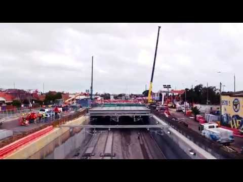 The mind blowing works on the North McKinnon Centre level crossing removal project after 20 days