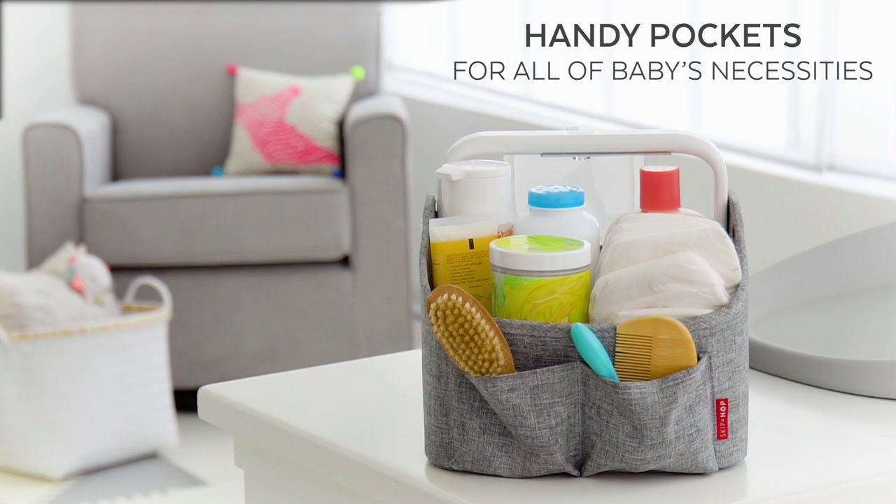 Car Or Travel Organization Perfect for Home Portable Large Diaper Caddy Tote /& Baby Diaper Stacker Bin Portable Car Storage Basket Baby Diaper Caddy Organizer