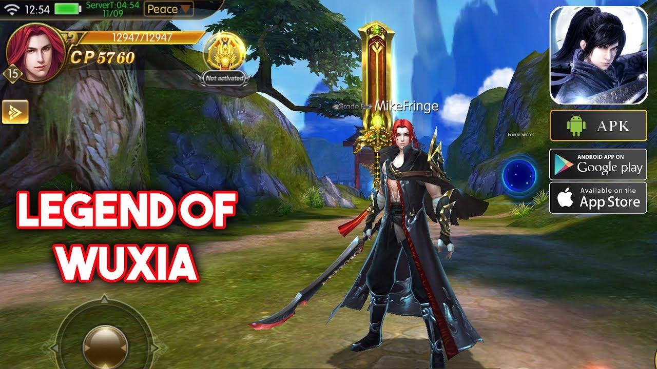 Legend of Wuxia Gameplay Android / iOS - 3D MMORPG