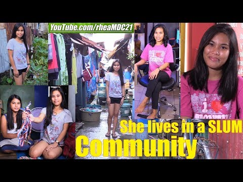 A Beautiful Filipina Living in a SLUM Community. Manila, Philippines. The Philippine Society
