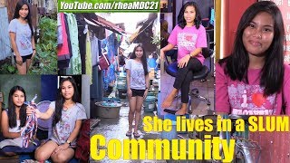 A Beautiful Filipina Living in a SLUM Community. Manila, Philippines. The Philippine Society
