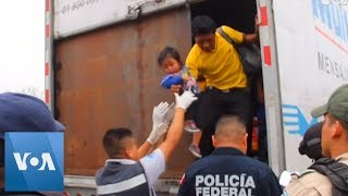 Mexico Finds More Than 140 Migrants Concealed in Truck