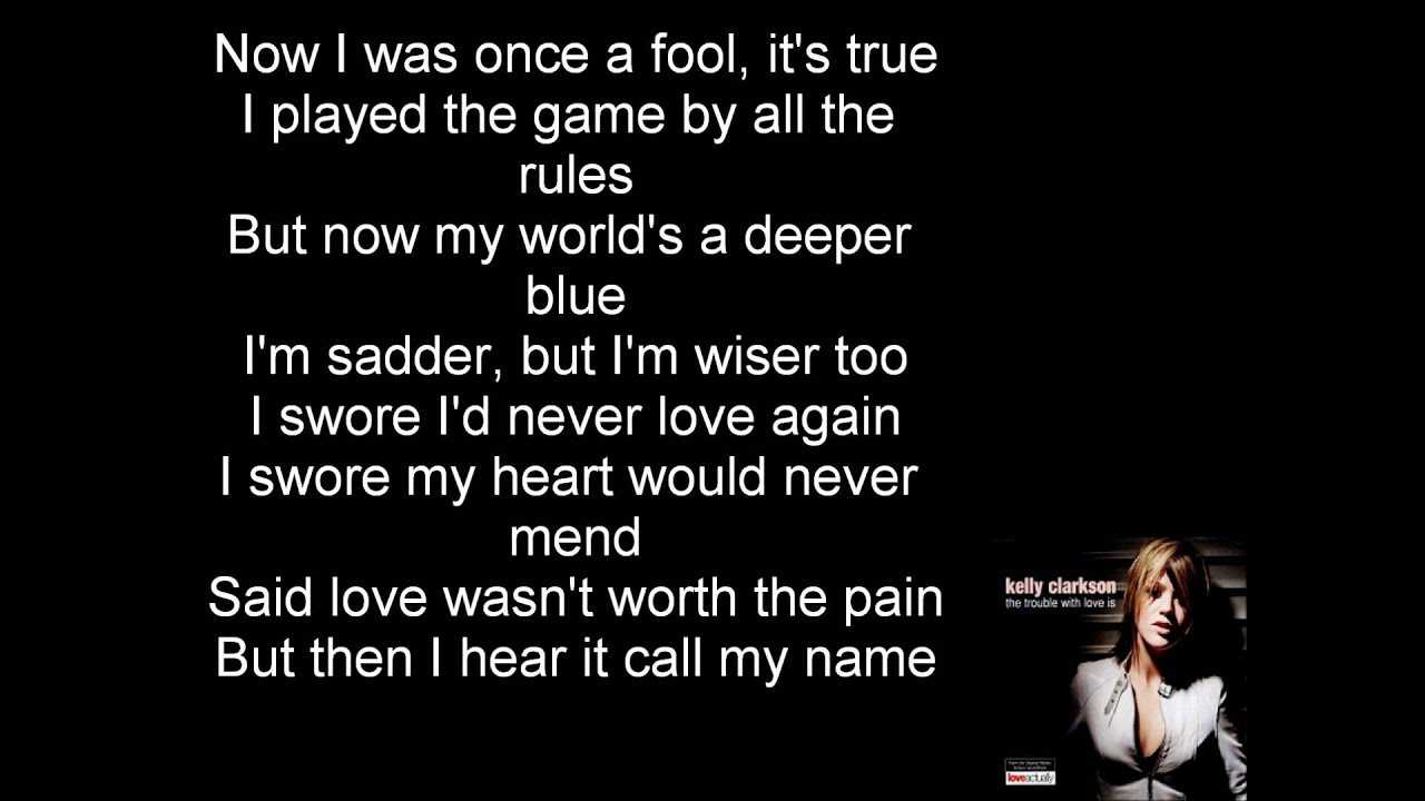 I don't hook up kelly clarkson lyrics