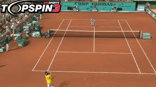 Top Spin 3 - Rafael Nadal vs Roger Federer - PS3 Gameplay