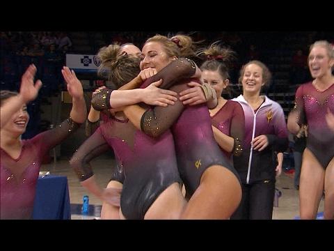 Recap: Arizona State women's gymnastics upsets No. 23 Arizona in Tucson