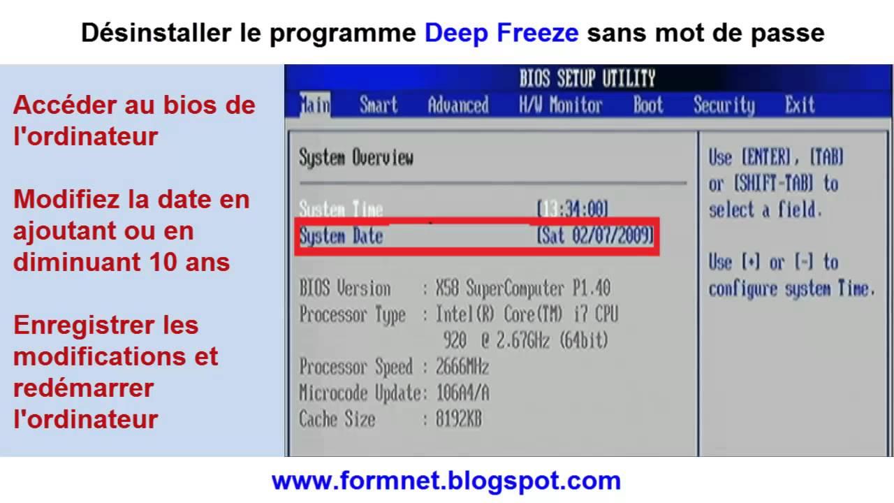 logiciel pour desactiver deep freez