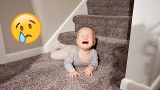 BABY FALLS OFF STAIRS