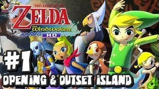 The Legend of Zelda Wind Waker HD Wii U - (2048p) Part 1 - Opening & Outset Island