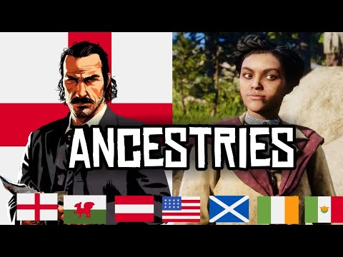 RED DEAD REDEMPTION 2 ☆ CHARACTERS ANCESTRIES ☆ VAN DER LINDE GANG EVERY Ancestry ( DUTCH ...)