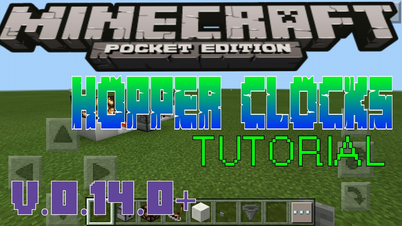 HOPPER CLOCKS IN MCPE?!?!?!|MCPE:How to make a working Hopper Clock  (0 14 0+) (Pocket Edition)