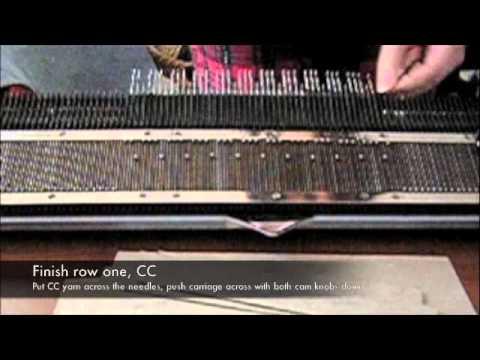 Fair isle patterning on a basic knitting machine - YouTube