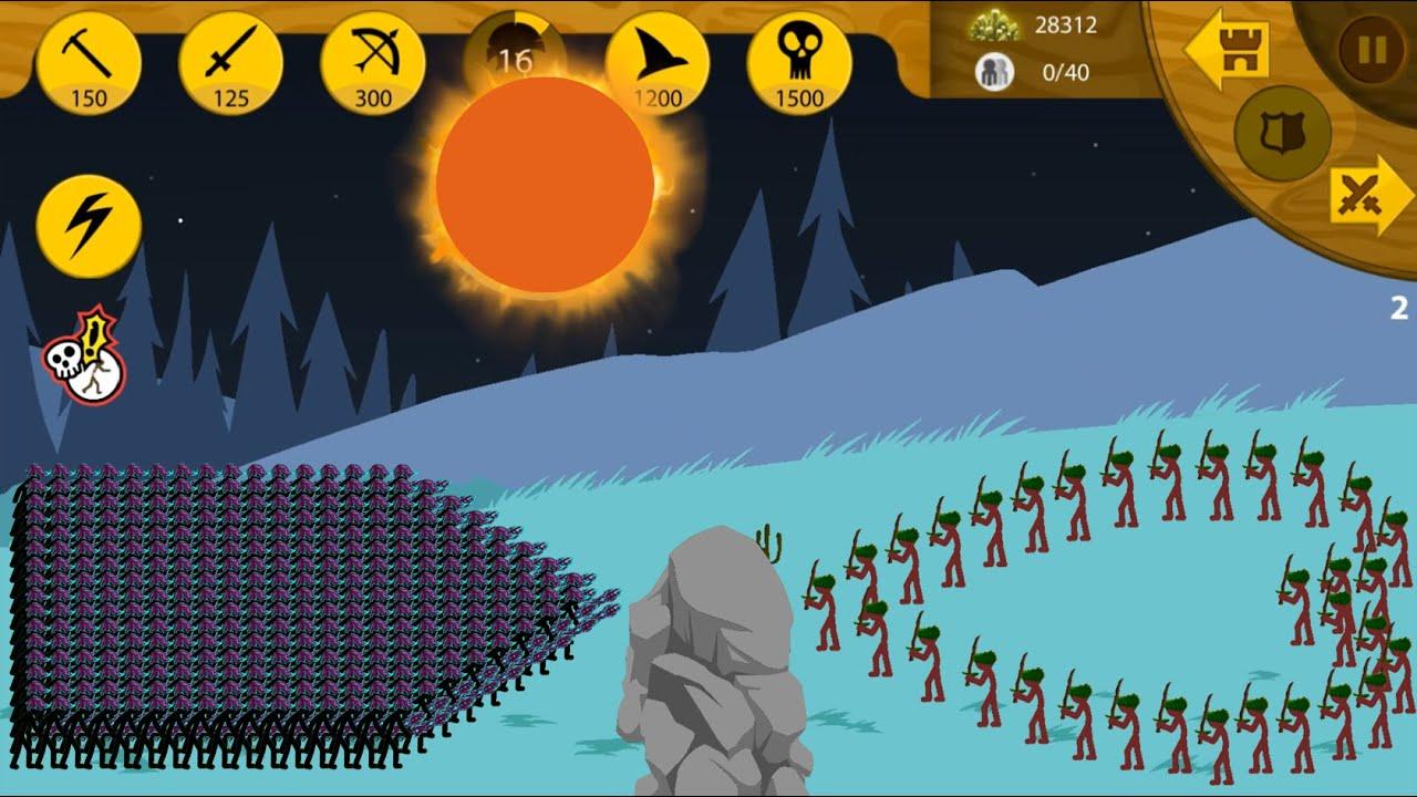 Army Swordwrath vs Army Swordwrath 💛 STICK WAR LEGACY Beta Update