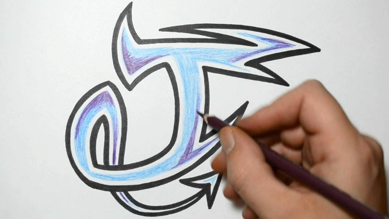 How To Draw Graffiti Characters Letter J