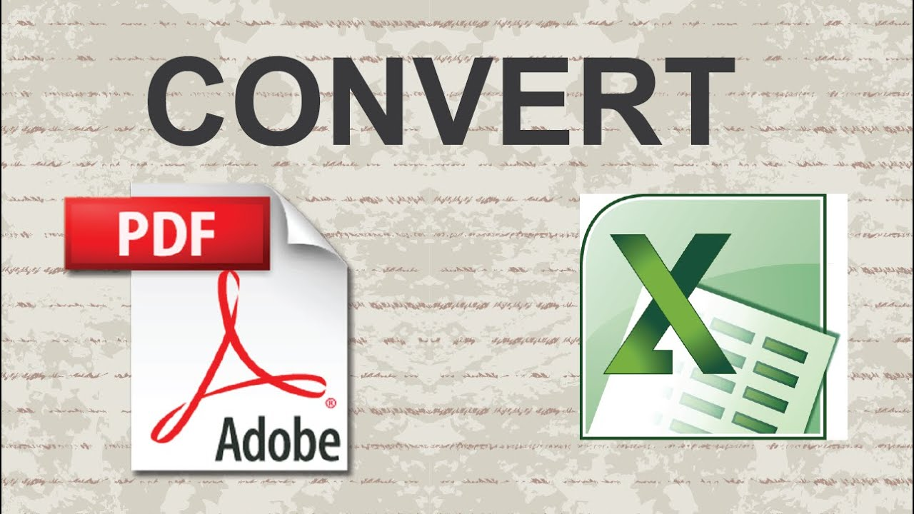 Pdf To Excel Convert Online