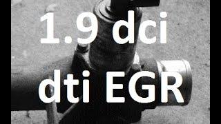 How to remove, replace, clean  EGR 1.9 dci/cdti/dti Vivaro Trafic Laguna Megane F9Q F8T Clio p2279