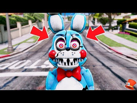 *NEW* NIGHTMARE TOY BONNIE ANIMATRONIC! (GTA 5 Mods FNAF RedHatter)