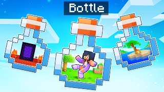 We're TRAPPED In A BOTTLE In Minecraft!
